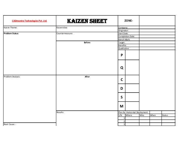 Kaizen Sheet