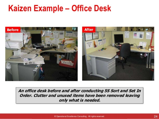 Kaizen by operational excellence consulting for 5s office design