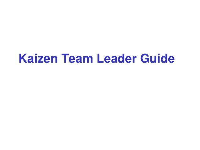 Kaizen Team Leader Guide