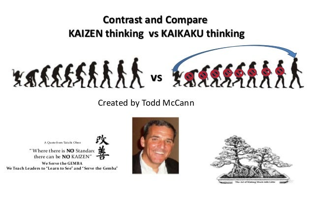 Contrast and Compare                                   KAIZEN thinking vs KAIKAKU thinking                                ...