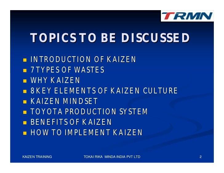 Kaizen training Slide 2