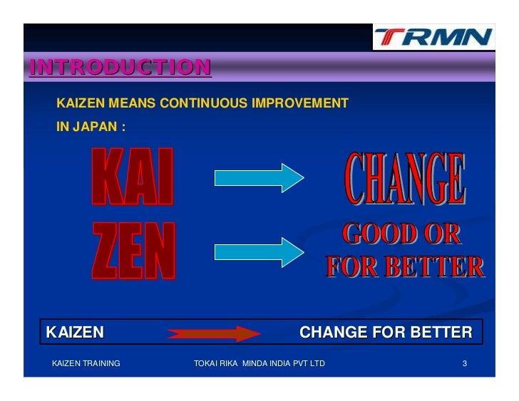 Kaizen training Slide 3
