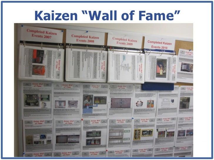 "Gemba Walk Team Board : Kaizen ""wall of fame"