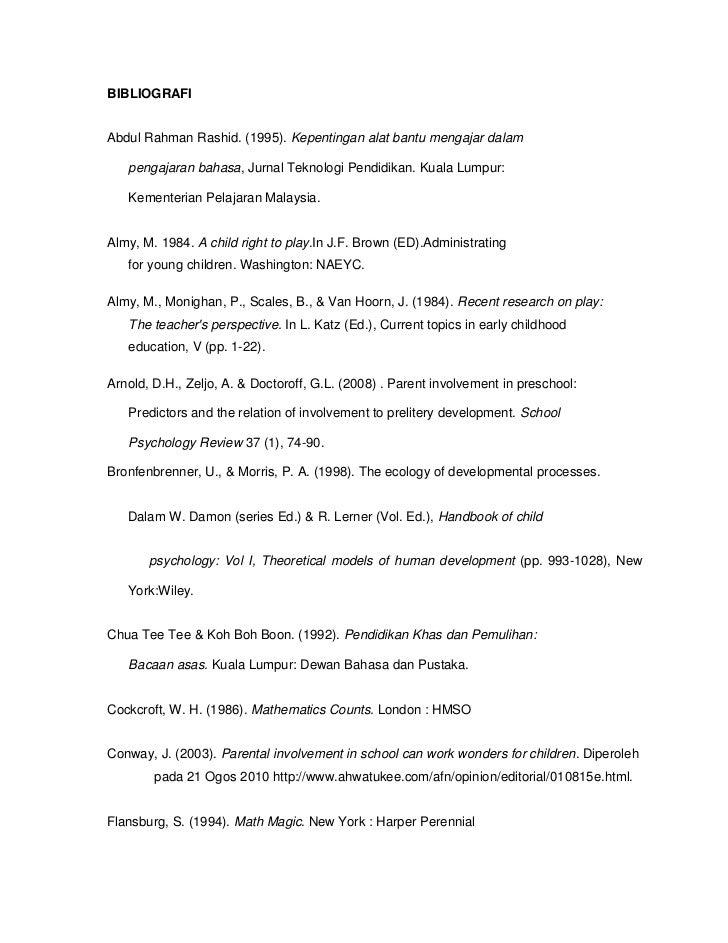 BIBLIOGRAFIAbdul Rahman Rashid. (1995). Kepentingan alat bantu mengajar dalam   pengajaran bahasa, Jurnal Teknologi Pendid...
