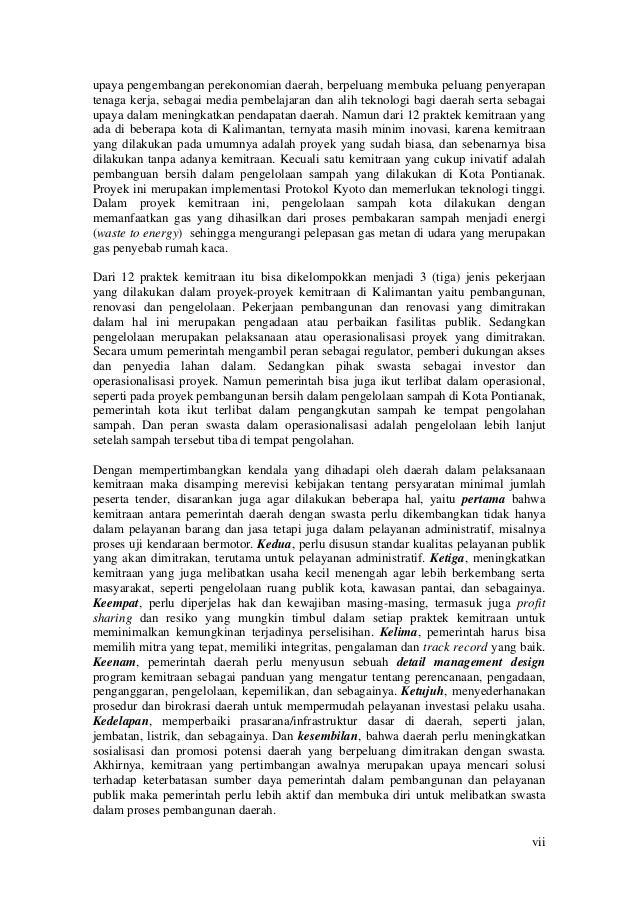 """Kajian """"Pola Kemitraan Pemerintah Kota Dengan Swasta Dalam Pembangunan Daerah di Kalimantan Slide 2"""