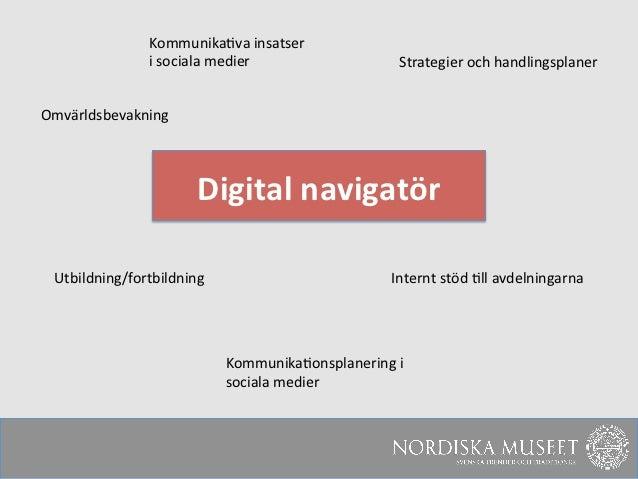 Kommunika3va insatser                    i sociala medier                   Strategier och handlingsplaner...