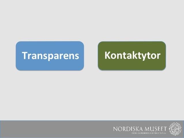 Transparens    Kontaktytor
