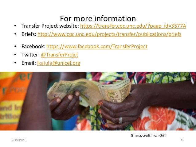 • Transfer Project website: https://transfer.cpc.unc.edu/?page_id=3577A • Briefs: http://www.cpc.unc.edu/projects/transfer...