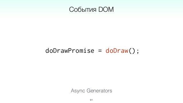 ??? = filterWSMessages(ws); ??? = observe(win, 'mousemove'); ??? = observe(ws, 'message'); 94 Что возвращает Async Generat...