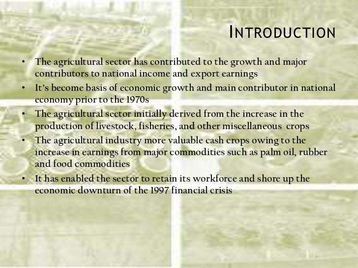 the impact of agricultural growth on The general impacts of agricultural sector on the nigerian economy bearing in mind that the sector is fundamental to the sustenance of life and the bed rock of economic growth oji-okoro izuchukwu school of economics, wuhan university of technology, wuhan pr china 430070.