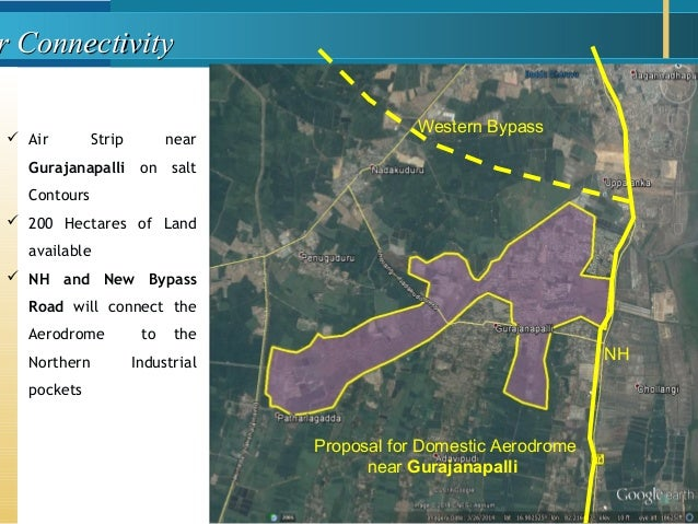 r Connectivityr Connectivity  Air Strip near Gurajanapalli on salt Contours  200 Hectares of Land available  NH and New...