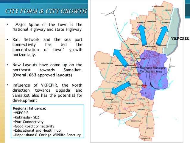 CITY FORM & CITY GROWTHCITY FORM & CITY GROWTH • Major Spine of the town is the National Highway and state Highway • Rail ...
