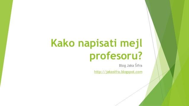 Kako napisati mejl profesoru