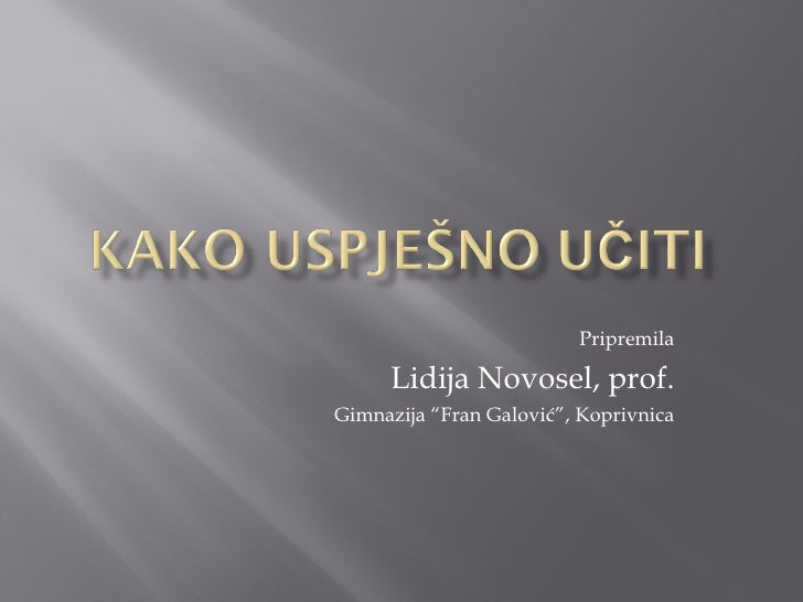 "Pripremila Lidija Novosel, prof. Gimnazija ""Fran Galović"", Koprivnica"