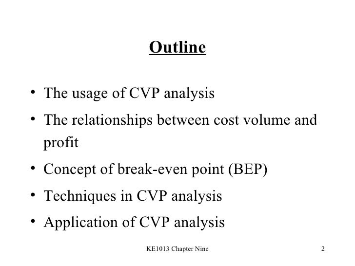 cvp analysis note Sample of cvp analysis essay (you can also order custom written cvp analysis essay.