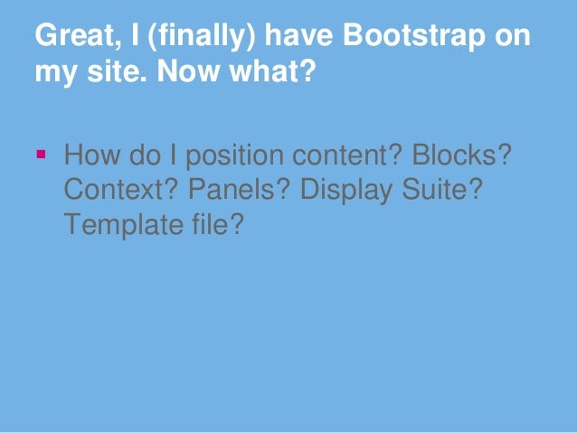 drupal themes twitter bootstrap