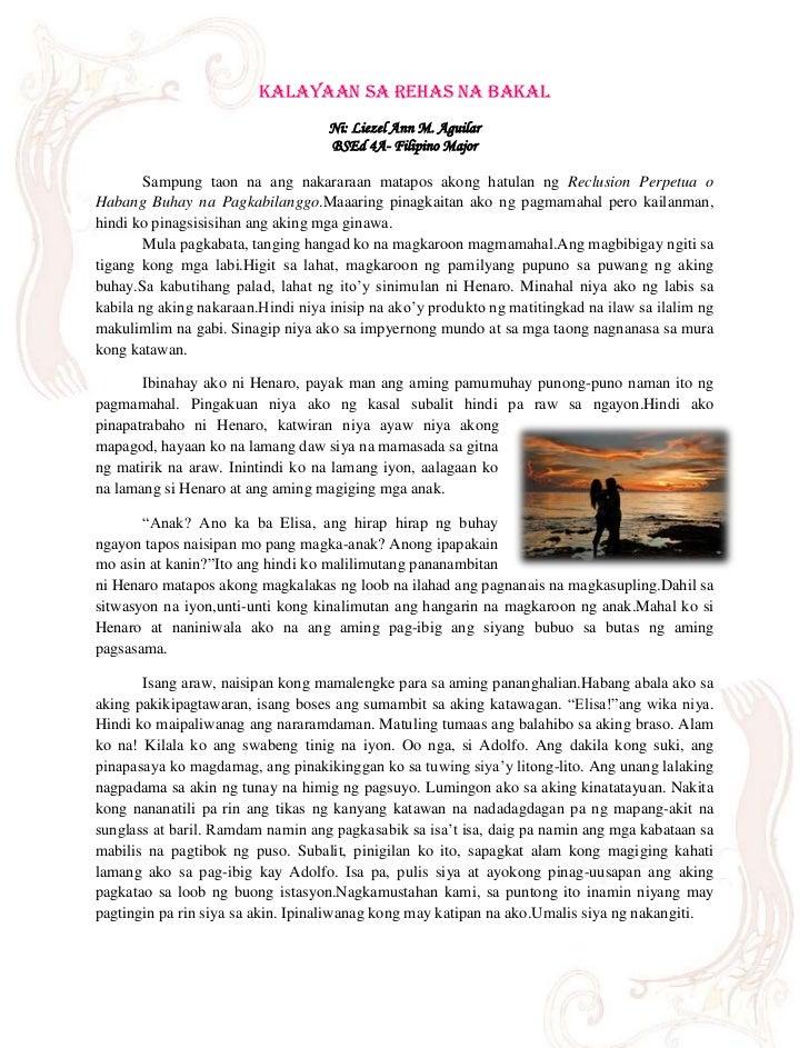 Kalayaan Sa Rehas na Bakal                                    Ni: Liezel Ann M. Aguilar                                   ...