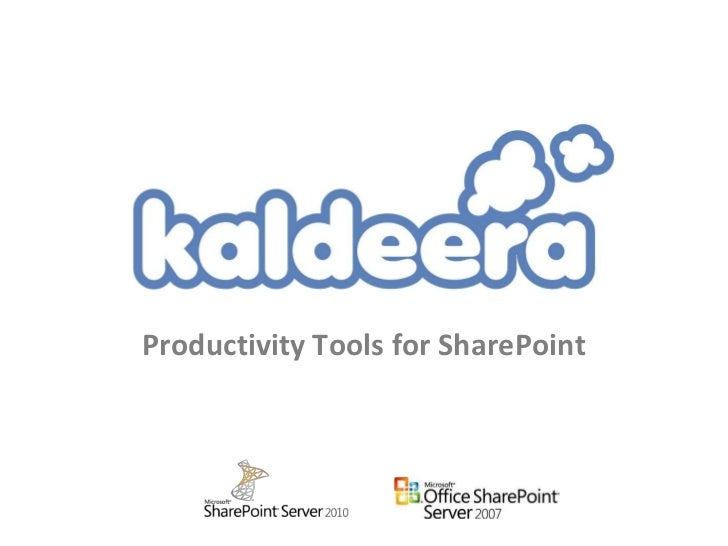 Productivity Tools for SharePoint