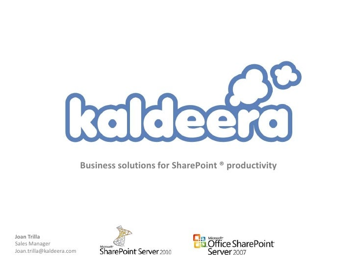 Kaldeera Tools for SharePoint - overview