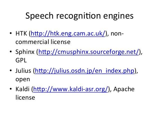 Online+ASR&STT+services+ • Google+voice+( hHps://console.developers.google.com/ project)+ • ATT+voice+recogni4on+( hHp:/...