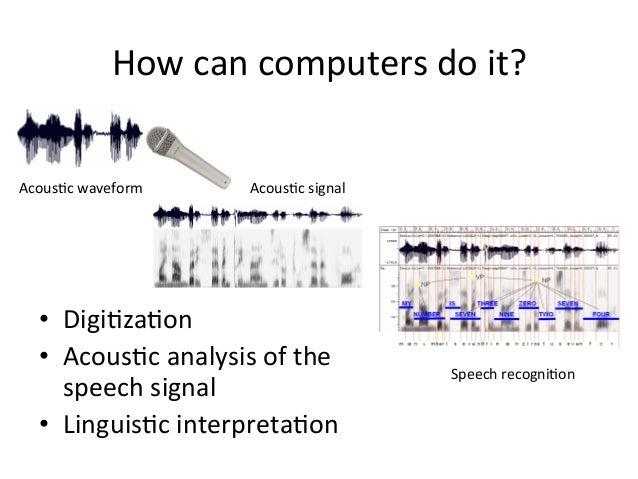 How+can+computers+do+it?+ • Digi4za4on+ • Acous4c+analysis+of+the+ speech+signal+ • Linguis4c+interpreta4on+ Acous4c+wa...
