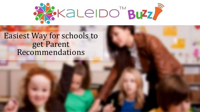 Easiest Way for schools to get Parent Recommendations