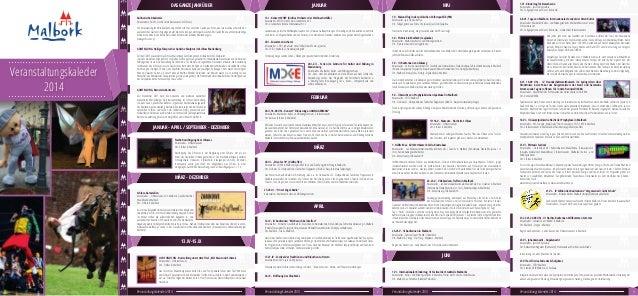 Veranstaltungskaleder 2014 JANUAR - APRIL / SEPTEMBER - DEZEMBER MÄRZ - DEZEMBER 13.IV-15.IX FEBRUAR MÄRZ APRIL MAIJANUARD...