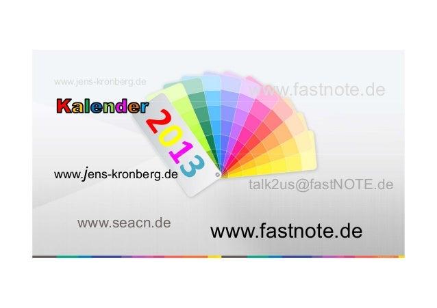 www.jens-kronberg.de                          www.fastnote.dewww.jens-kronberg.de                          talk2us@fastNOT...
