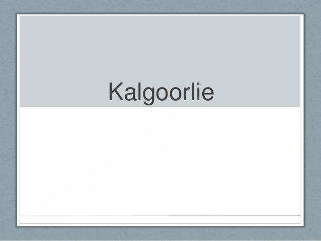 Kalgoorlie Monday 10th June 2013