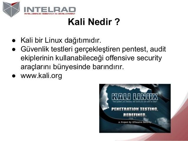 Kali ile Linux'e Giriş | IntelRAD Slide 3