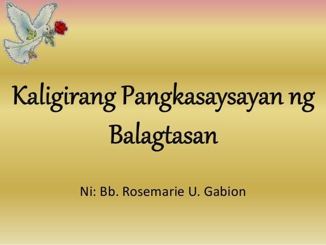 Ni: Bb. Rosemarie U. Gabion
