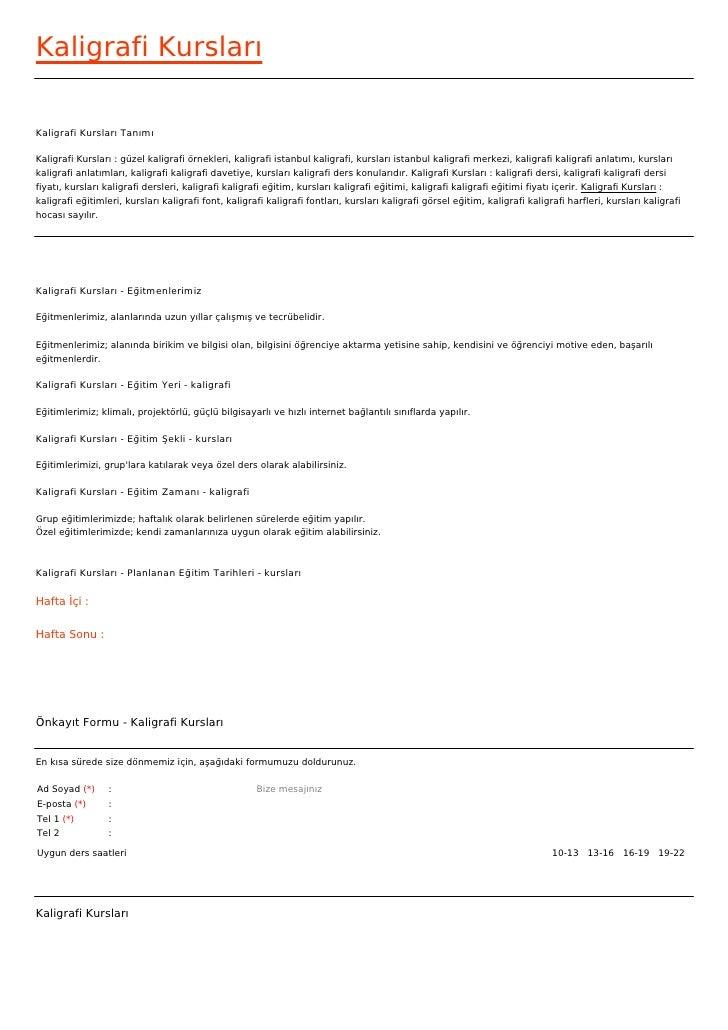 Kaligrafi KurslarıKaligrafi Kursları TanımıKaligrafi Kursları : güzel kaligrafi örnekleri, kaligrafi istanbul kaligrafi, k...