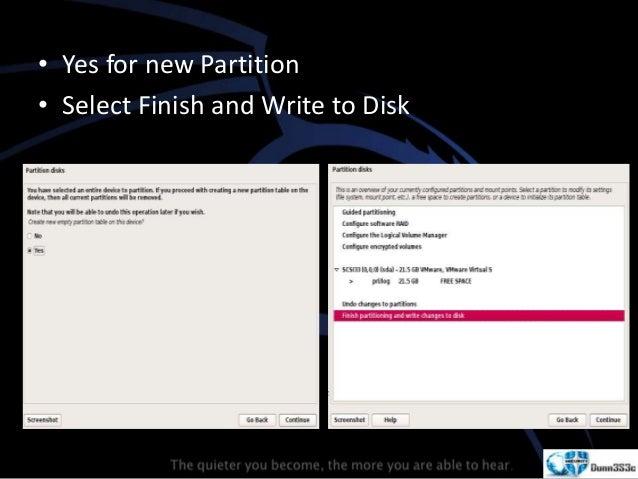 Kali Linux Installation - VMware