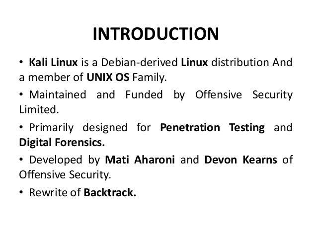 Kali Linux Slide 2