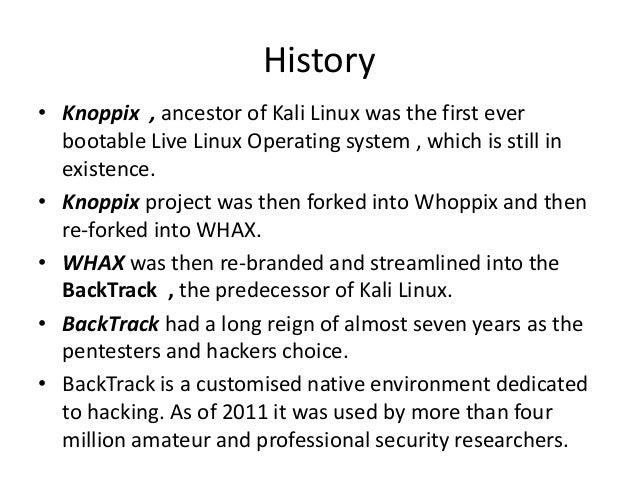 Kali Linux Slide 3