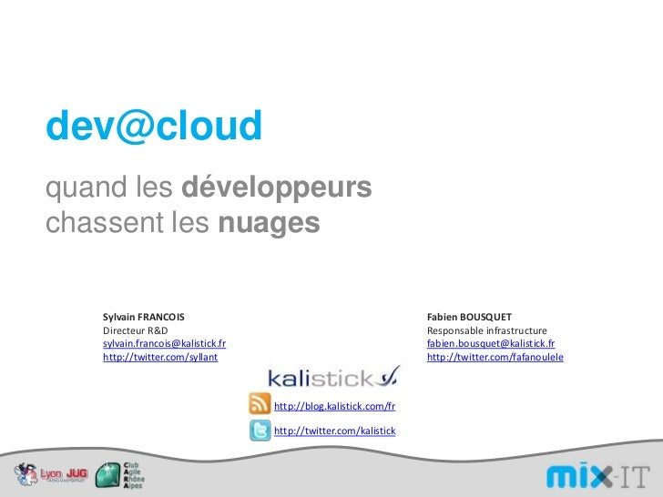 Kalistick MixIT dev@cloud