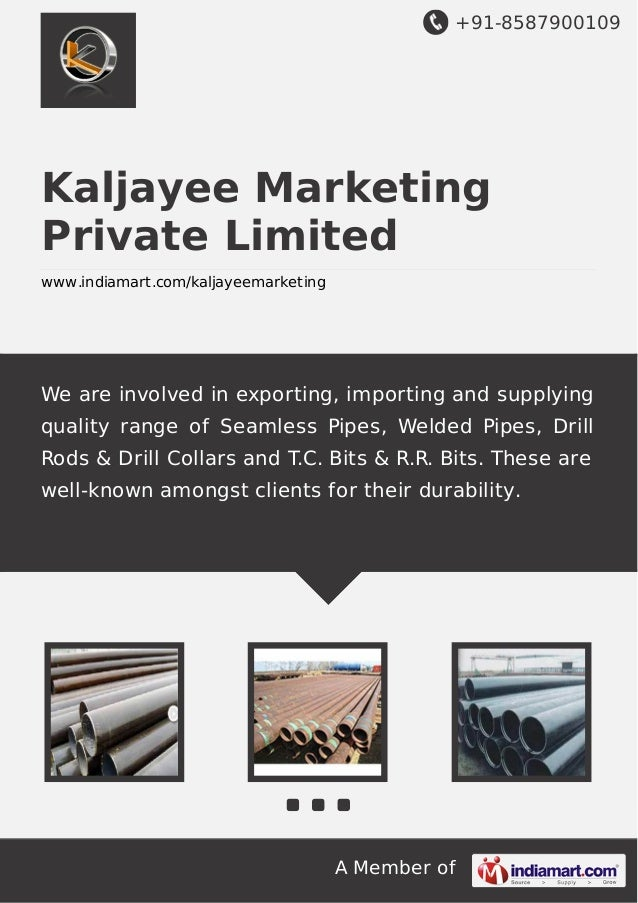 +91-8587900109  Kaljayee Marketing Private Limited www.indiamart.com/kaljayeemarketing  We are involved in exporting, impo...