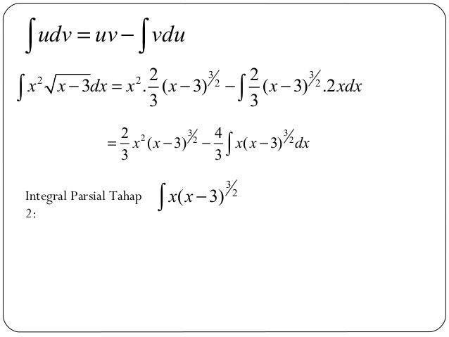 3 32 2 2 22 23 . ( 3) ( 3) .23 3x x dx x x x xdx− = − − −∫ ∫udv uv vdu= −∫ ∫3 32 2 22 4( 3) ( 3)3 3x x x x dx= − − −∫Integ...