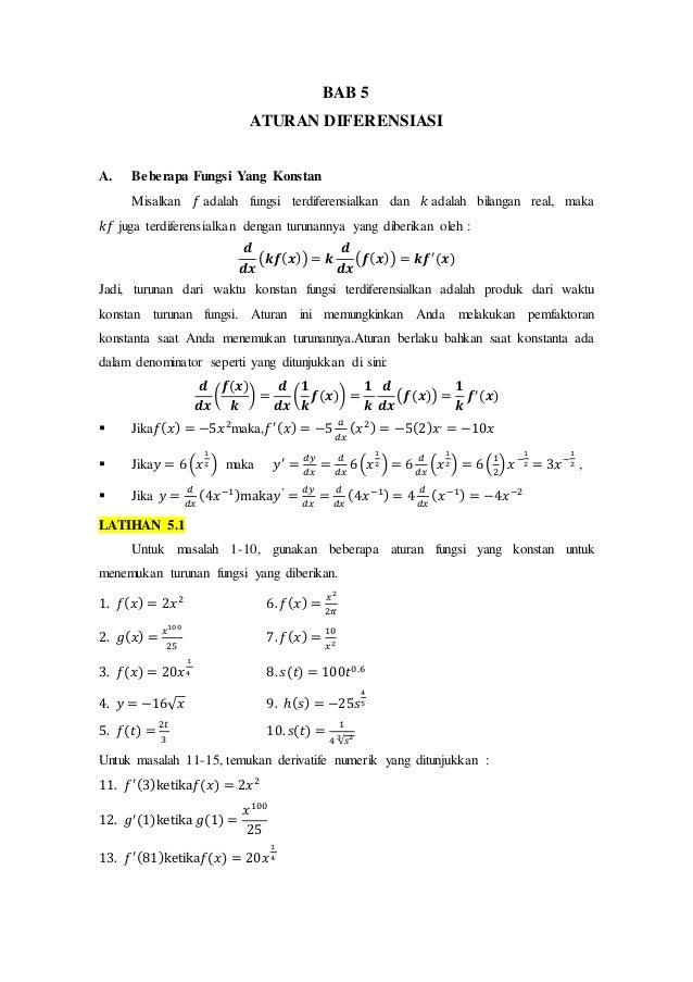 Kalkulus Diferensial Dan Integral