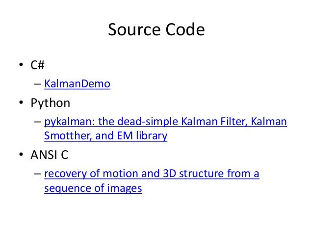 Kalman filter for Beginners