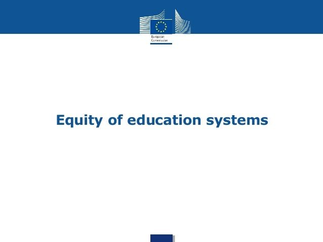 Equity of education systems