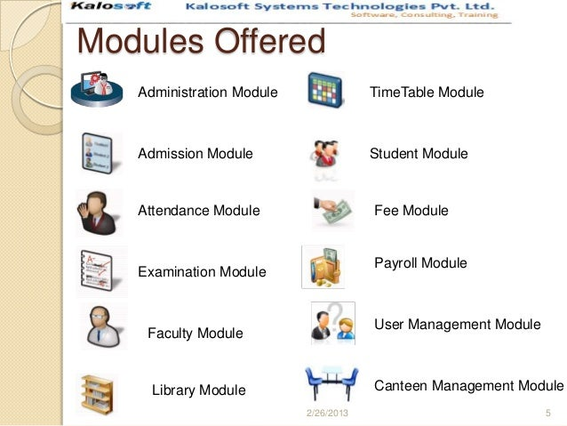 University management system modules