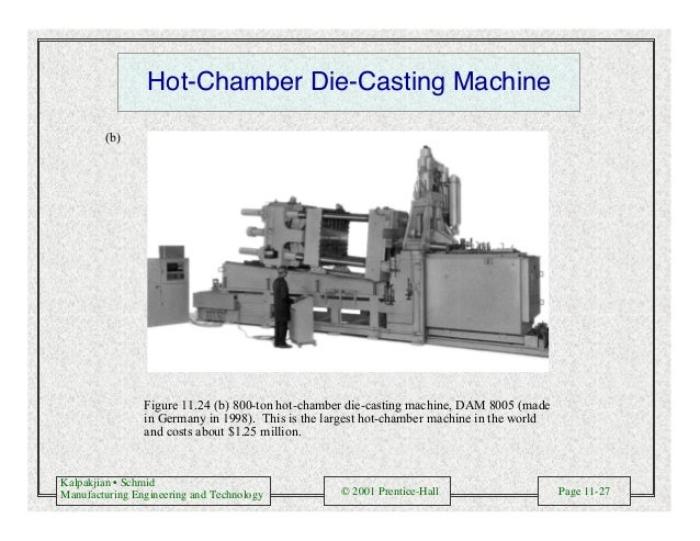 Kalpakjian • Schmid Manufacturing Engineering and Technology © 2001 Prentice-Hall Page 11-27 Figure 11.24 (b) 800-ton hot-...