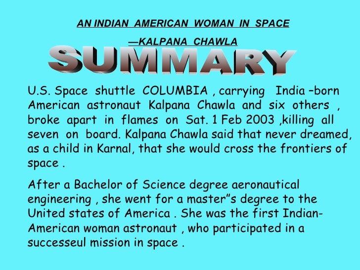 the sky is the limit by kalpana chawla essay