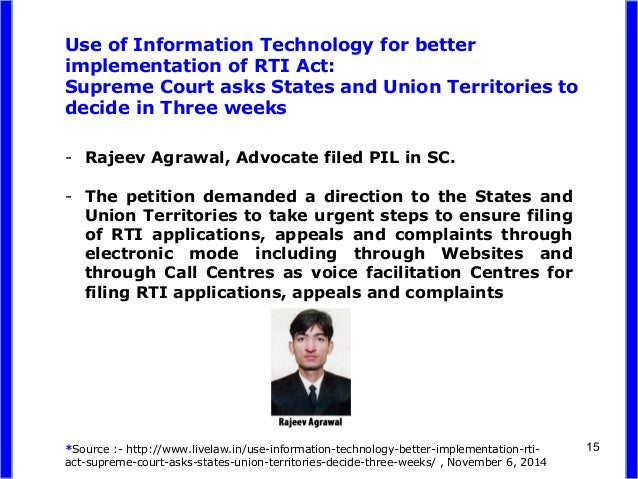 thesis on rti in india As far as india is concerned, the right to information began its journey when the need to enact a law on right to information similar essays rti surgical, inc.