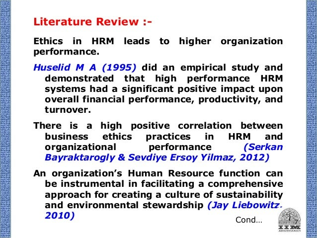 literature review of international human resource management
