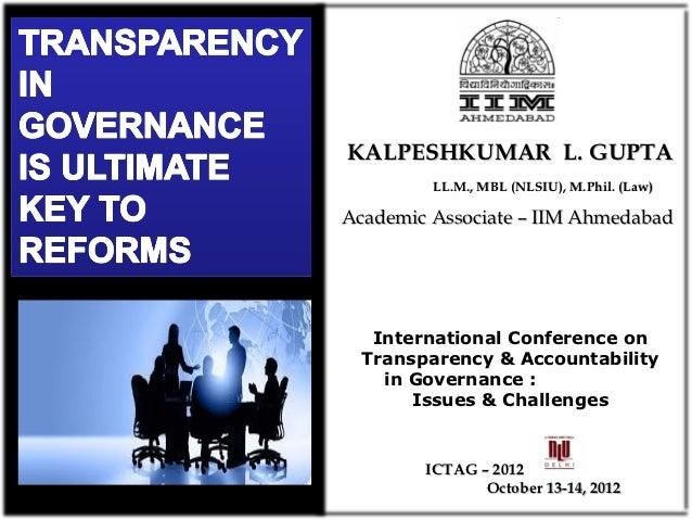 KALPESHKUMAR L. GUPTA         LL.M., MBL (NLSIU), M.Phil. (Law)Academic Associate – IIM Ahmedabad   International Conferen...