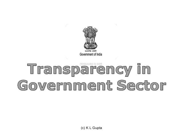 "transparency in government essay The pros and cons of transparency ""the dark"" would thwart the creation of records that could be used later for assessment or intervention by a real government."