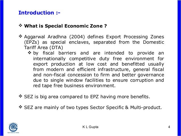 thesis on special economic zone
