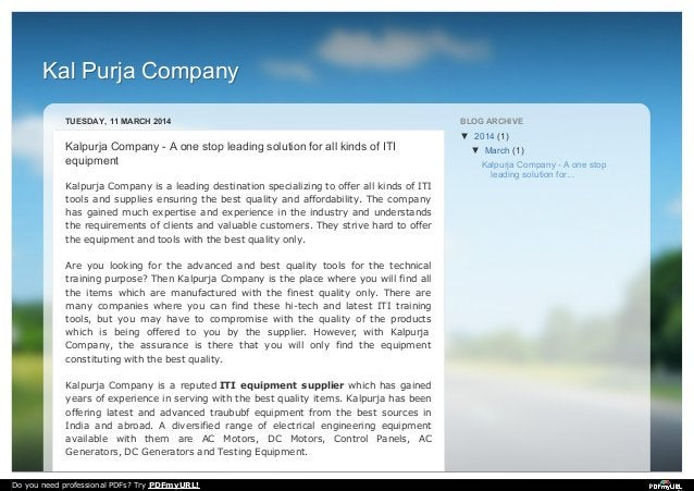 Kal Purja CompanyKal Purja Company TUESDAY, 11 MARCH 2014 Kalpurja Company - A one stop leading solution for all kinds of ...